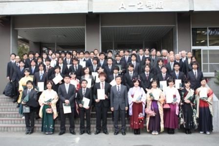 平成23年度卒業論文・修士論文優秀発表者表彰式