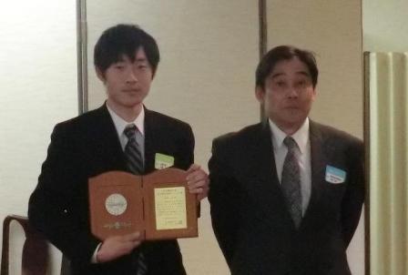 北原(修士1年)さんが日本機械学会フェロー賞を受賞