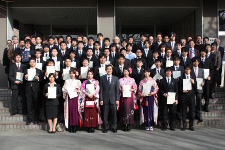 平成24年度卒業論文・修士論文優秀発表者表彰式