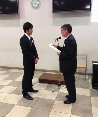 征矢裕貴さんがBest Presentation Awardを受賞