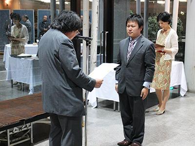 阿部さん(2013年度修了生)が西田賞を受賞