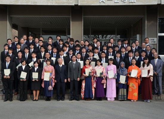 平成26年度卒業論文・修士論文優秀発表者表彰式