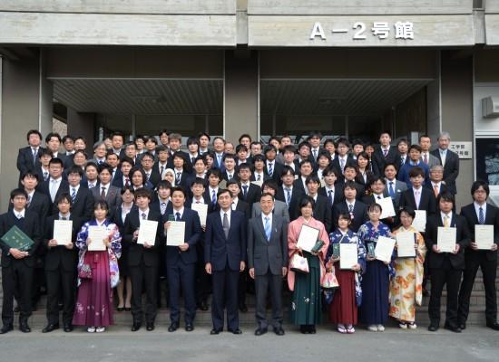 平成27年度卒業論文・修士論文優秀発表者表彰式