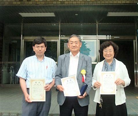 社会人博士課程の埋橋英夫さんが鳥養名誉教授、角田准教授とともにターボ機械協会論文賞を受賞
