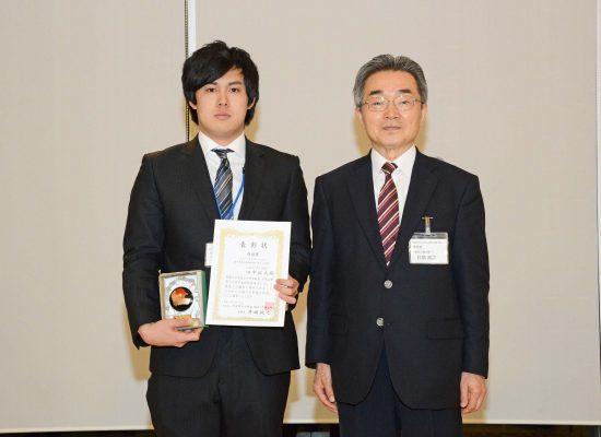 医工農学総合教育部2年の田中裕大さんが日本原子力学会関東甲越支部奨励賞を受賞